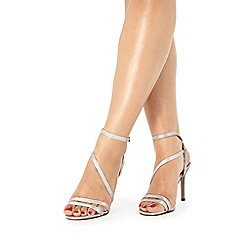 Faith - Ivory satin 'Dilly' high sandals