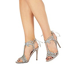 Faith - Natural 'Fizz' high stiletto heel peep toe sandals