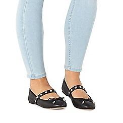 Faith - Black 'Amira' slip-on shoes