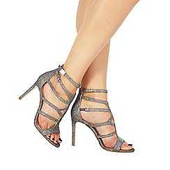 Faith - Dark grey 'Lars' high stiletto heel gladiator sandals