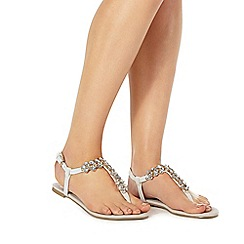 Faith - White 'Julie' T-bar sandals