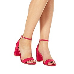 Faith - Pink 'Demi' high heel wide fit ankle strap sandals