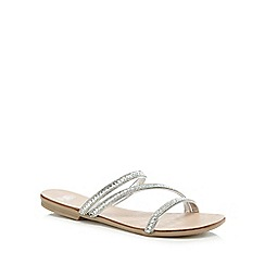 Faith - Silver diamante 'Jodie' mule sandals