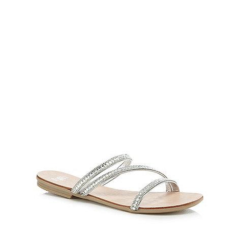 Faith - Silver diamante +Jodie+ mule sandals