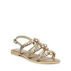 Faith - Silver leather 'Jester' ankle strap sandals
