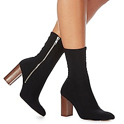 Faith - Black 'Bootie' high block heel ankle boots