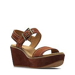 Clarks - Dark tan aisley orchid women's sandals