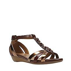 Clarks - Tan combi bianca shade women's sandals