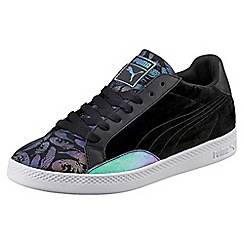 Puma - Black leather 'Match Swan Wn' trainers