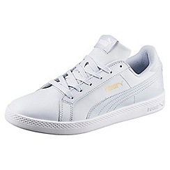 Puma - Pale blue leather 'Smash Wn L' trainers