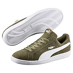 Puma - Dark olive suedue 'Smash SD' trainers