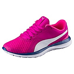 Puma - Bright pink FlexT1 trainers