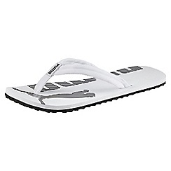 Puma - White 'Epic Flip V2' flip flops