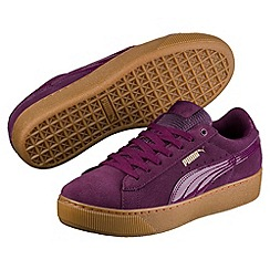 Puma - Dark purple vikky platform
