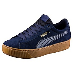 Puma - Blue suede 'Vikky' comfort fit trainers