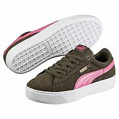 Puma - Pink vikky platform trainers