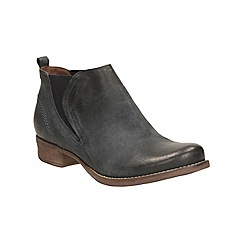Clarks - Navy Leather Colindale Oak Slip On Ankle Boot