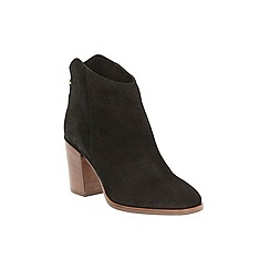 Clarks - Black Suede LORA LANA ankle boot