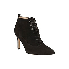 Clarks - Black Suede Dinah Star Stiletto Heeled Ankle Boot