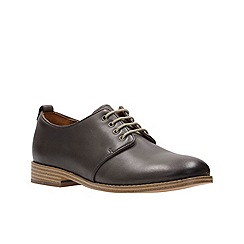 Clarks - Grey leather zyris toledo lace up shoe