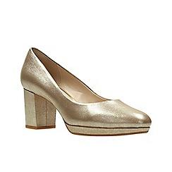 Clarks - Gold Metallic'  KELDA HOPE'  Court Shoes