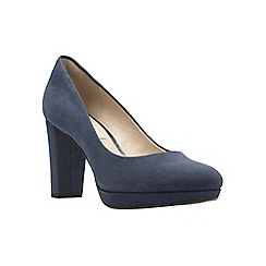 Clarks - Navy Suede' KENDRA SIENNA' Court Shoes