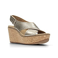Clarks - Gold Metallic'  AISLEY TULIP'  Sandals