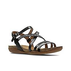 Clarks - Black Leather'  AUTUMN PEACE'  Sandals