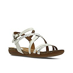 Clarks - White Leather'  AUTUMN PEACE'  Sandals