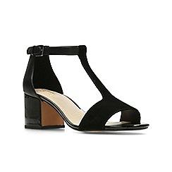 Clarks - Black Combi Lea'  BARLEY BELLE'  Sandals