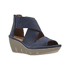 Clarks - Navy Nubuck'  CLARENA GLAMOR'  Sandals
