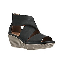 Clarks - Black Nubuck'  CLARENA GLAMOR'  Sandals