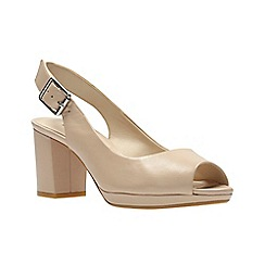 Clarks - Nude Leather' KELDA SPRING' Sandals