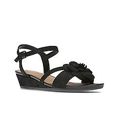 Clarks - Black Nubuck'  PARRAM STELLA'  Sandals