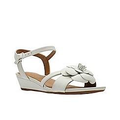 Clarks - White Nubuck'  PARRAM STELLA'  Sandals