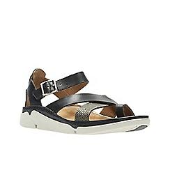 Clarks - Black interest lea ' tri ariana ' sandals