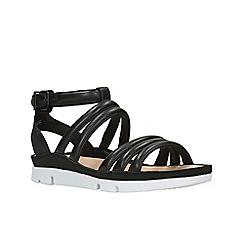 Clarks - Black Leather'  TRI NYLA'  Sandals