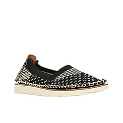 Clarks - Black Combi' DAMARA EVIE' Flat Shoes