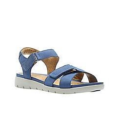 Clarks - Dark Blue Nubuck'  UN SAFFRON'  Sandals