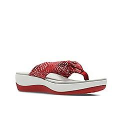 Clarks - Red combi ' arla glison ' sandals
