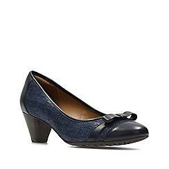 Clarks - Navy combi leather denny fete women's shoes