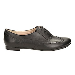 Clarks - Black leather' carousel trick' shoes