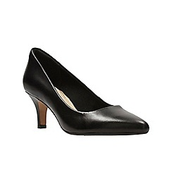 Clarks - Black leather ' isidora faye ' court shoes