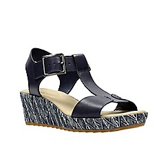 Clarks - Navy Leather' KAMARA KIKI' Sandals