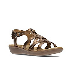 Clarks - Bronze Leather'  MANILLA BONITA'  Sandals