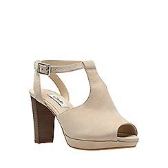 Clarks - Nude suede kendra charm women's high heel sandals