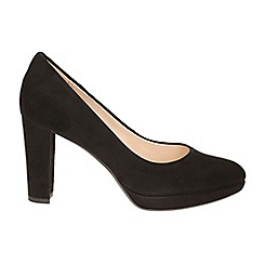 Clarks - Black suede kendra sienna silhouette court shoes
