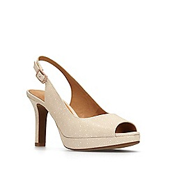 Clarks - Nude nubuck mayra blossom women's high heels sandals