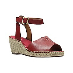 Clarks - Red leather petrina selma women's sandals