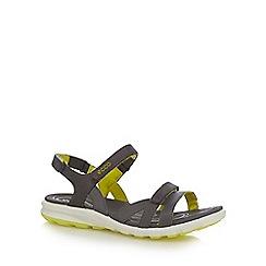 Ecco - Grey cruise flat sandals